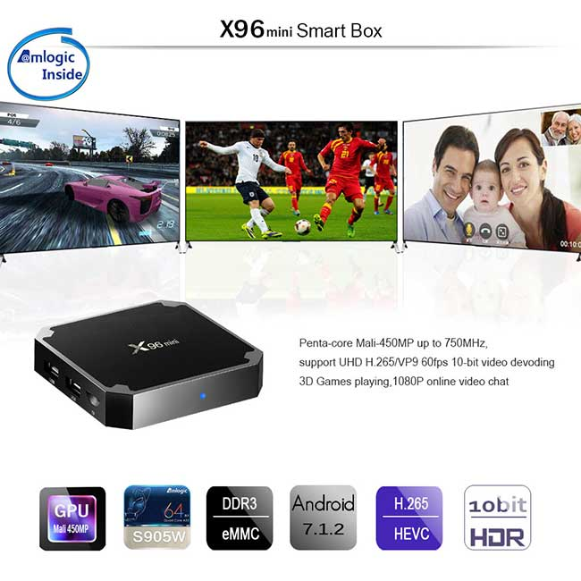 ТВ приставка X96 Mini TV Box 2/16 Гб + супер прошивка